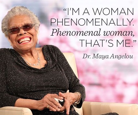 maya angelou phenomenal woman Analysis of phenomenal woman by maya angelou the poem starts in a conversational fashion where a flock of women, intrigued by poet's popularity amidst male suitors, want to know from her the secret of her success.